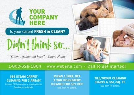 Carpet Cleaning Postcard Marketing - Carpet Vidalondon