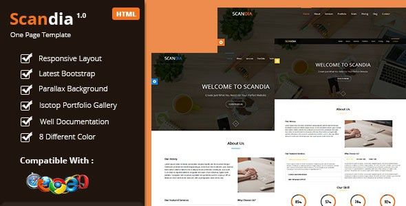 Scandia Responsive One Page Template by themehavens | ThemeForest