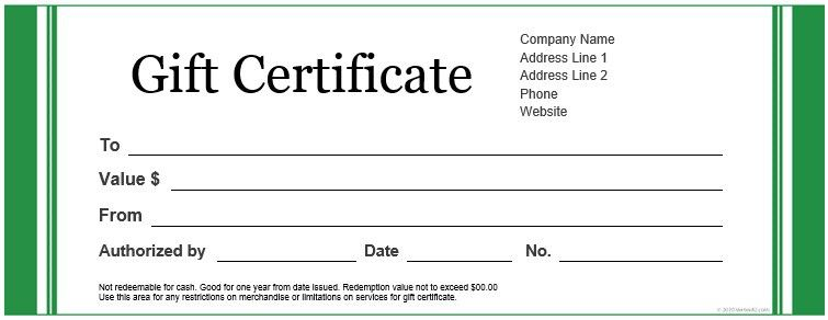 How To Make Gift Certificates On Word [Template.billybullock.us ]
