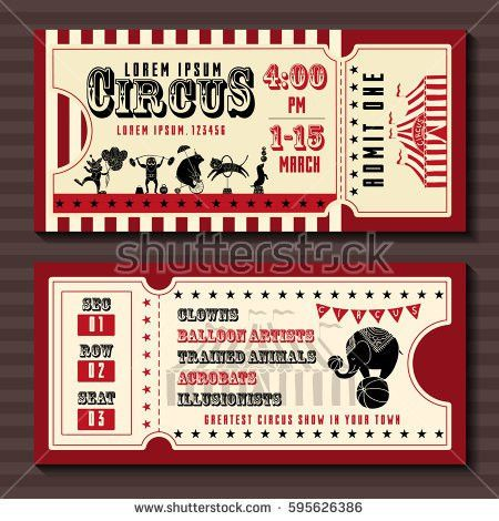 Circus Ticket Stock Images, Royalty-Free Images & Vectors ...