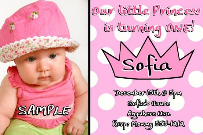 Sample 1St Birthday Invitation Card - Festival-tech.Com