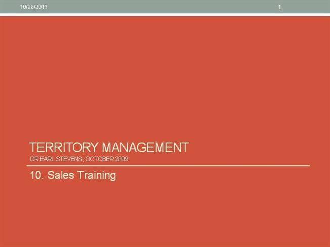 10. Sales Training - Territory Management  authorSTREAM