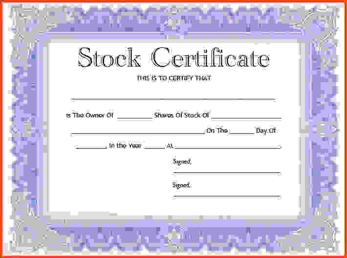 Stock Certificate Template.Stock Certificate Template 1 .