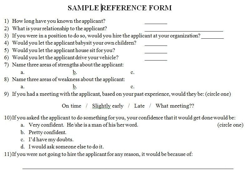 Reference forms and the references that reference them. – rod arters