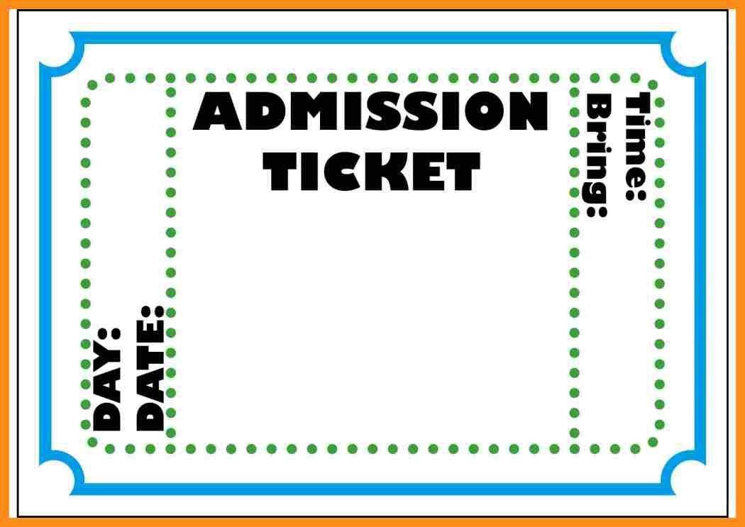 7+ entrance ticket template | resume setups