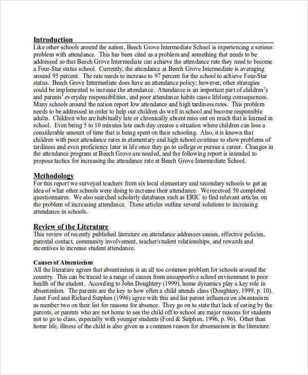 9+ Formal Report Examples, Samples