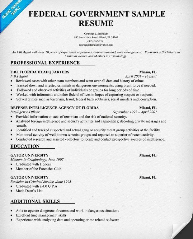 sample of federal government resume go government how to apply