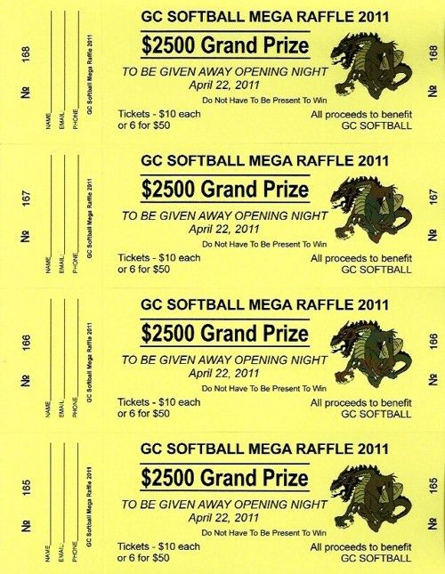 Raffle Ticket Templates - Order Large Raffle Ticket Paper