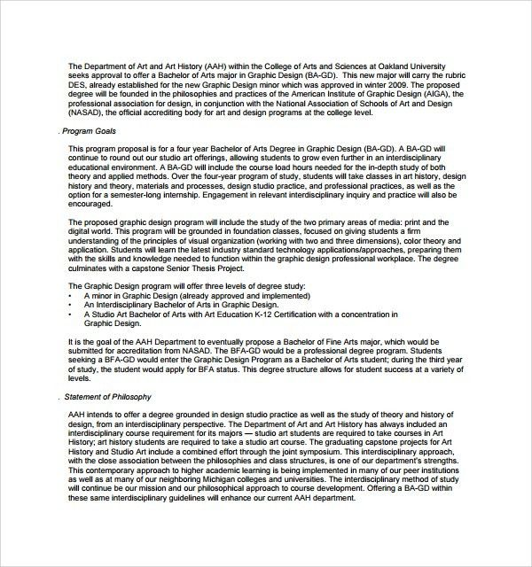 Sample Graphic Design Proposal Template - 9+ Free Documents in PDF ...