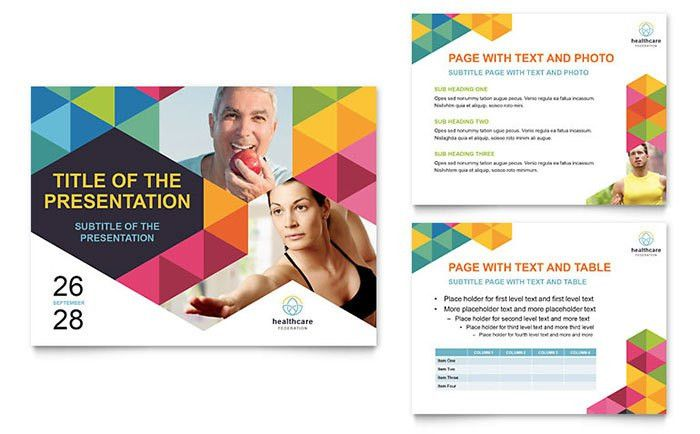 Health Fair PowerPoint Presentation Template Design