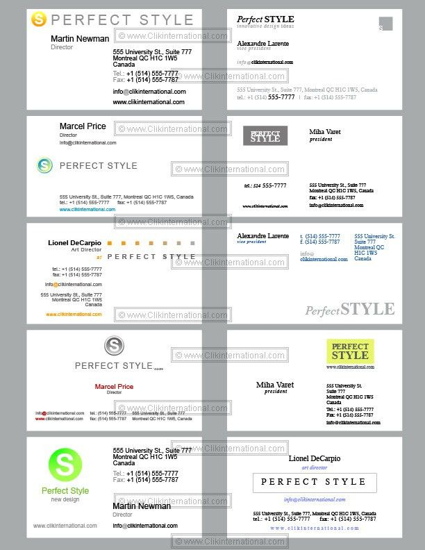 10 Business Cards Templates - Perfect Style Design
