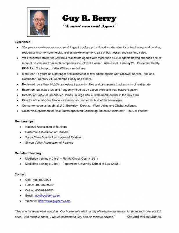 real estate resume amp writing guide resume genius. 10 real estate ...