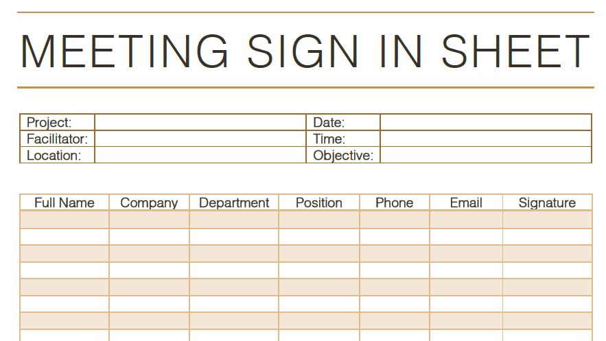 5 Sign in Sheet Template Ideas | Templates Assistant