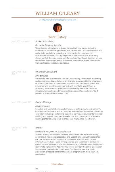 Broker Resume samples - VisualCV resume samples database