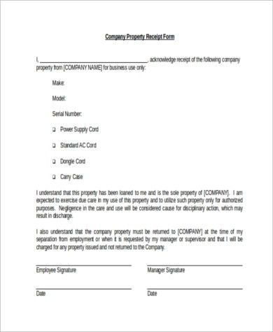 Receipt Form Samples - 10+ Free Documents in Word, PDF