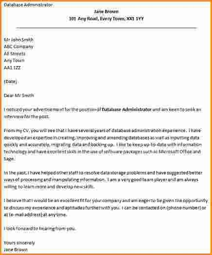 Sample Oracle Database Administrator Cover Letter Andrian James Blog