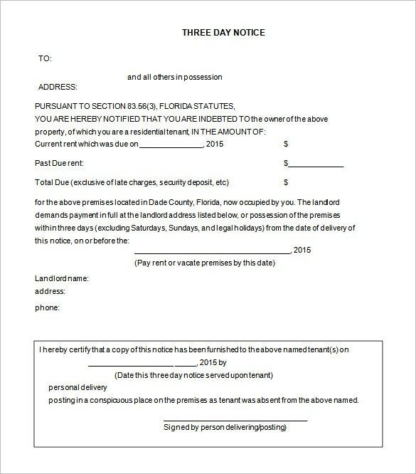 printable eviction notice template
