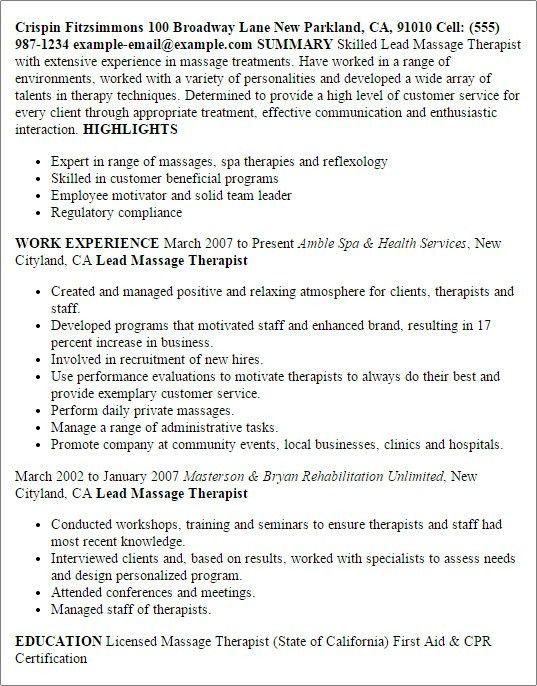 Therapeutic Recreation Specialist Sample Resume Professional - therapeutic recreation specialist sample resume