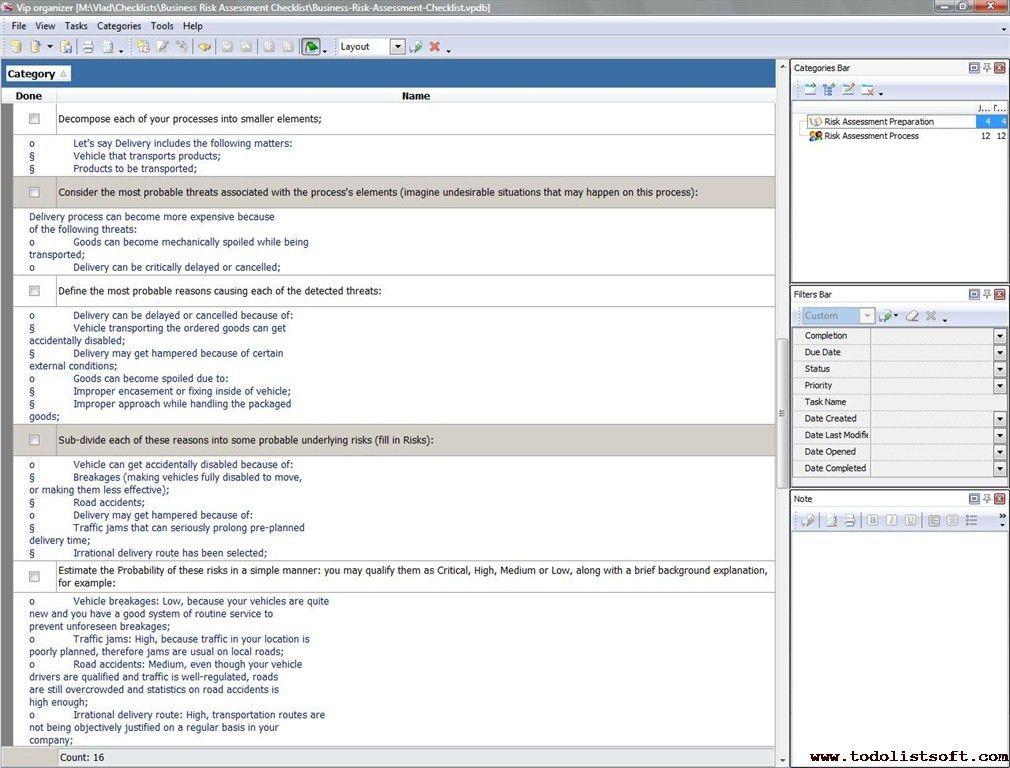 Business Risk Assessment. Risk Assessment Template Copyright @ Gmh ...