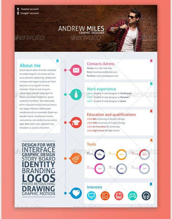 design resume templates 20 beautiful free resume templates for