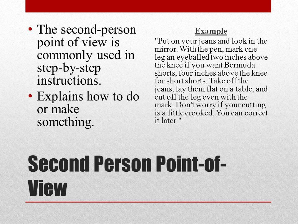 LA Final Review Monday December 16, Point of View First Person ...