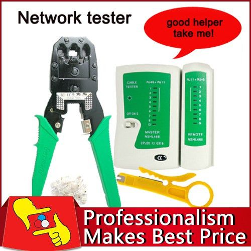 Free shipping Network tester hand tool lan network cable tester + ...