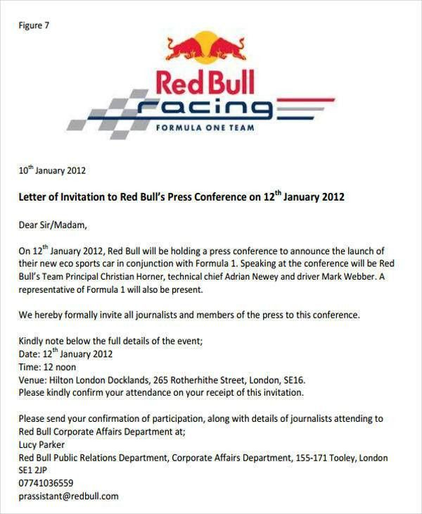 Formal invitation letter for event sample business event 35 invitation letters stopboris Images