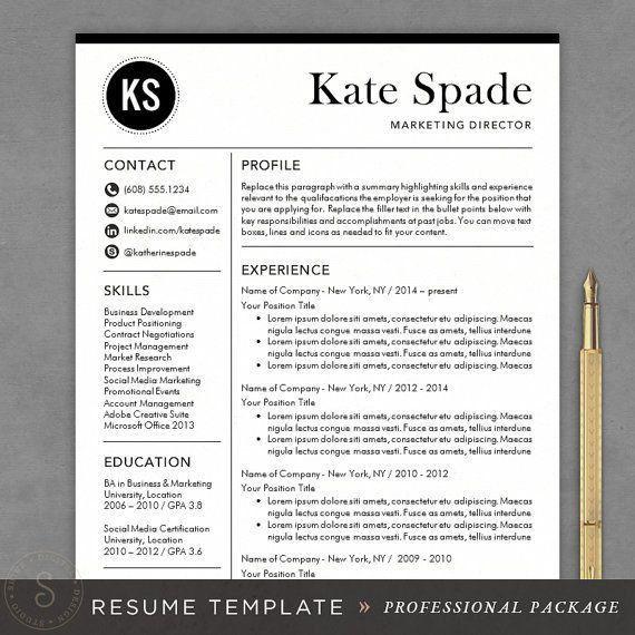 Word Resume Template Mac - CV Resume Ideas