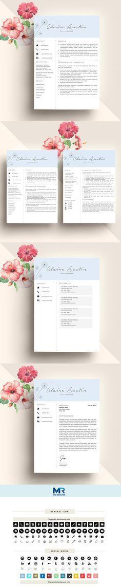 Stylish Resume Template + Cover Letter | Creative Resume Design ...