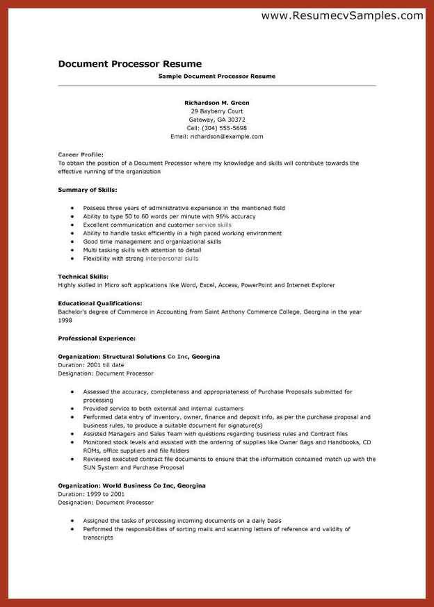 Good Resume For Clerical Job. systems administrator job ...