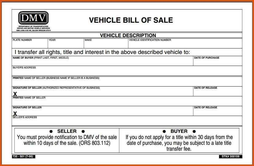 vehicle bill of sale pdf | general resumes