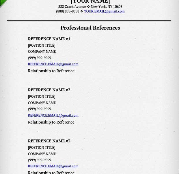 Pretty Inspiration Ideas Resume References Example 8 On A Resume ...