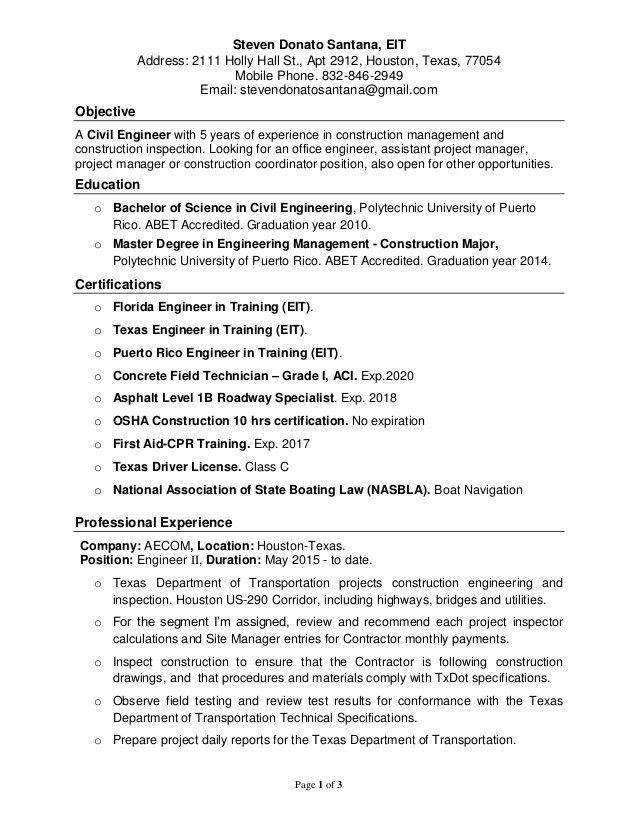 Steven donato, civil engineer resume. 3 19-2016