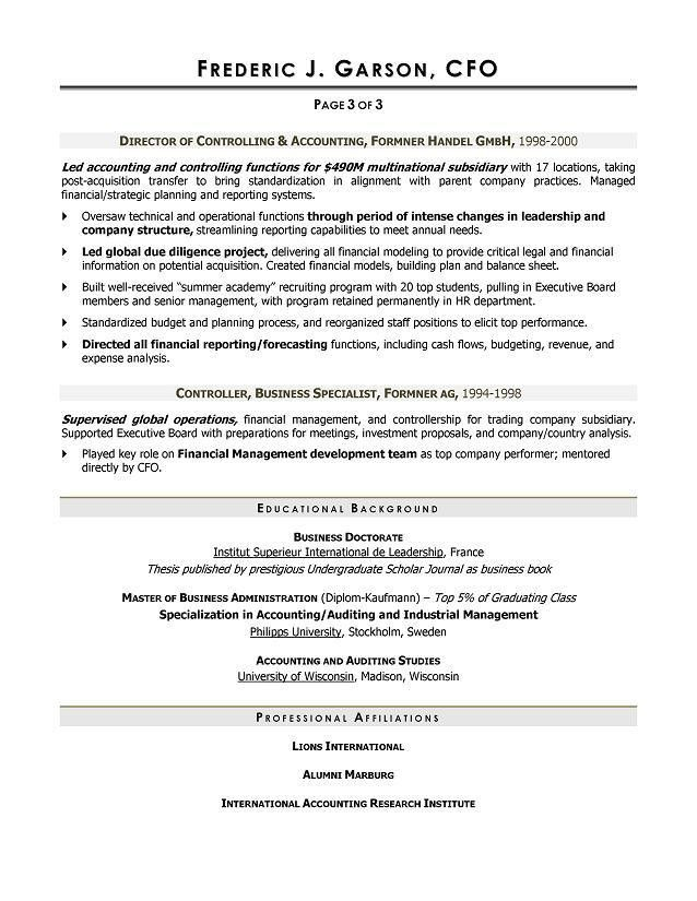 Download Cfo Resume | haadyaooverbayresort.com