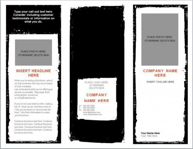 Template Microsoft Word tri fold brochure templates microsoft word ...