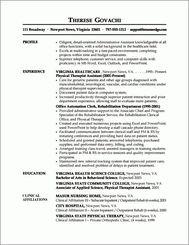 executive assistant resume objectives admin assistant resume ...