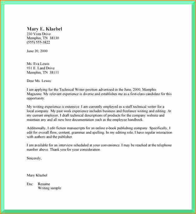11+ formal application letter format - Basic Job Appication Letter