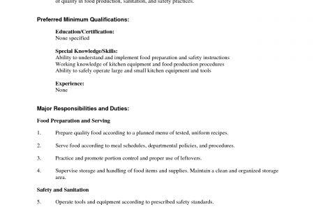 job description for food service worker food service cover letter