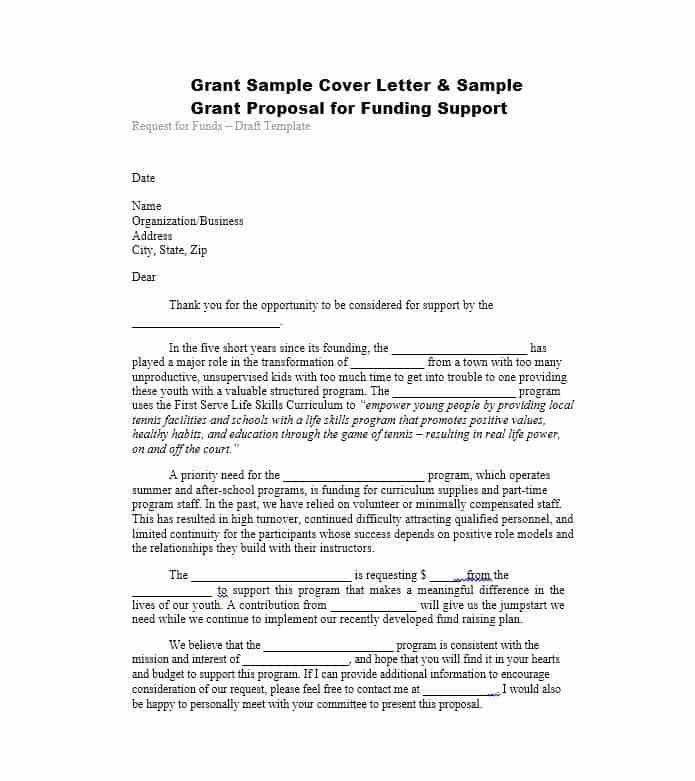 40+ Grant Proposal Templates [NSF, Non Profit, Research .