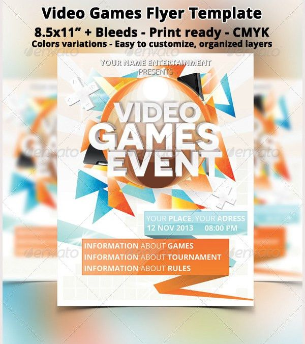 11 Amazing Online Gaming Flyer Templates | Free & Premium Templates