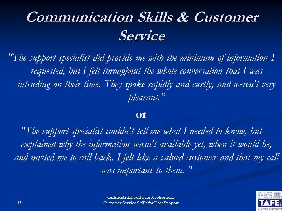 Customer Service Skills for User Support - ppt video online download