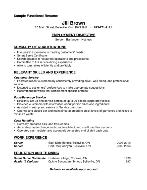 Professional Bartender Resume Samples For Job Applicants : Vntask.com