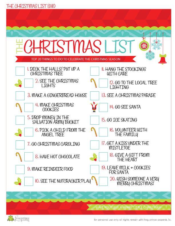 THE Christmas To-Do List {Free Printable} - Frog Prince Paperie