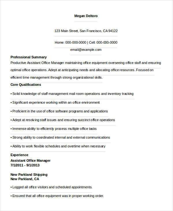 36+ Manager Resume Templates Download | Free & Premium Templates