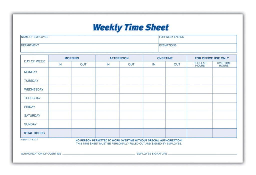 Downloadable Weekly Time Sheet Template Free : vlashed
