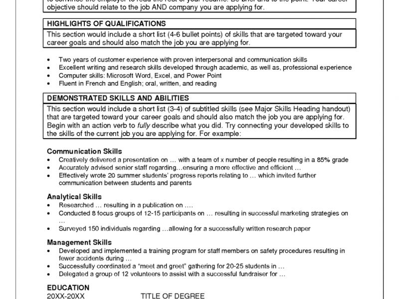 Exclusive Ideas Skill Resume 14 Skill For Resume Examples Summary ...