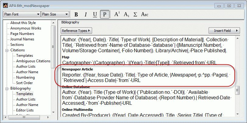 Newspaper article citation, APA style - Clarivate Community
