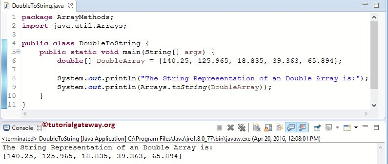 How to Convert Java Array to String