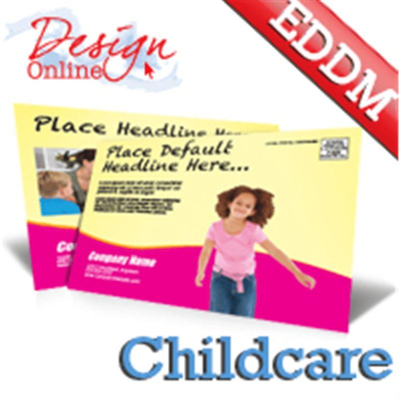 Childcare Daycare EDDM Postcards Template