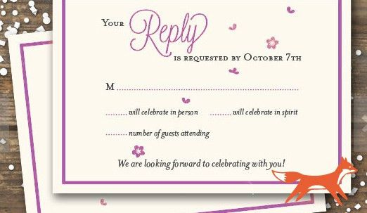 Wedding RSVP Wording Ideas and Format - 2017 Edition - RSVPify